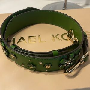 REDUCED PRICE! MK Bag Strap - Leather / Green NWoT